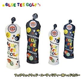 【即納】 ブルーティーゴルフ フェアウェイウッド用 ユーティリティー用 ヘッドカバー スマイル & ピンボール 【BLUE TEE GOLF】【SMILE & PINBALL】