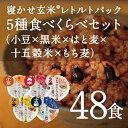 【あす楽】レトルトご飯 パック/ 寝かせ玄米 レトルト ごはんパック 5種食べくらべ(小豆 黒米 はと麦 十五穀米 もち…