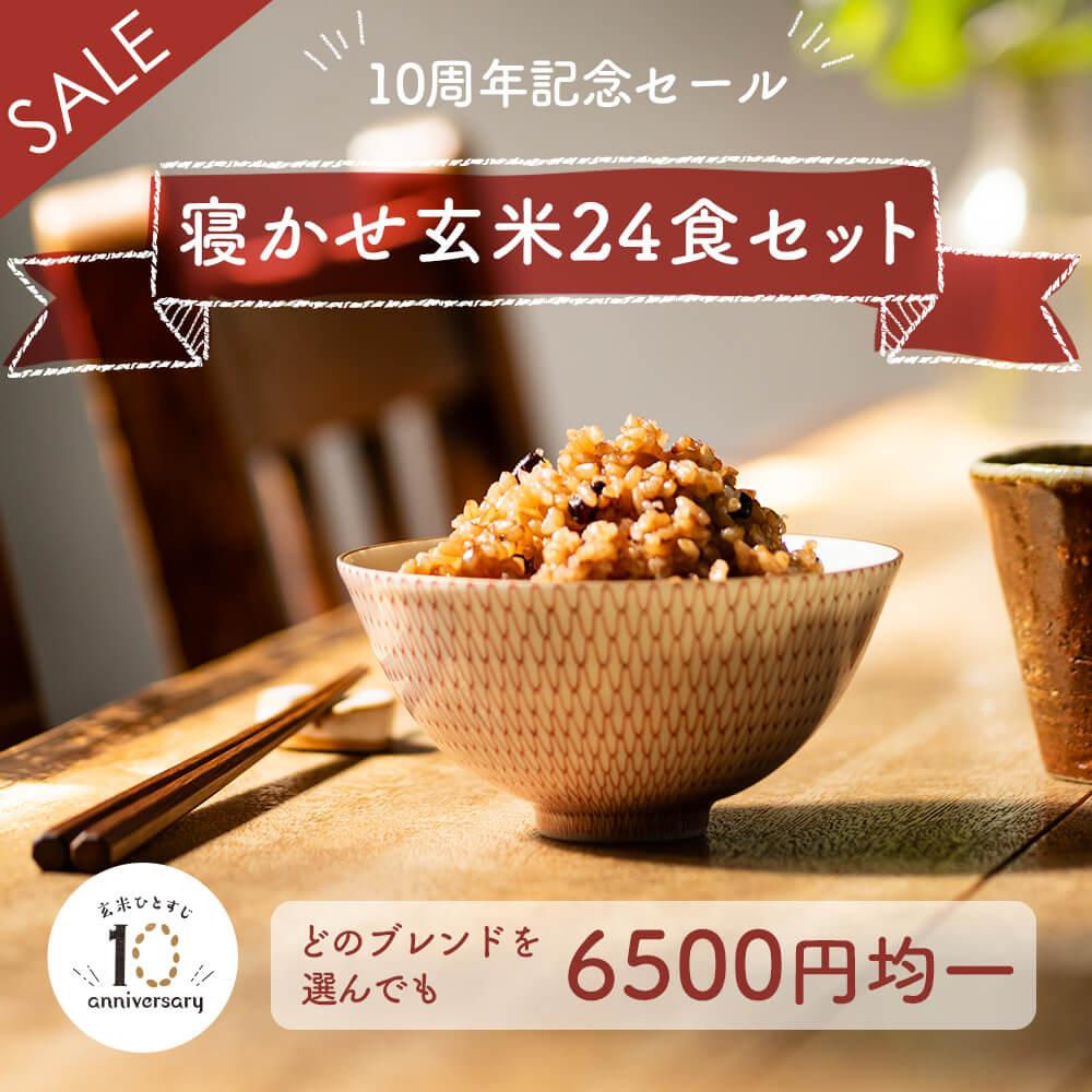 【10周年記念SALE】寝かせ玄米ごはんパック 24食セット レトルトご飯 パック 玄米
