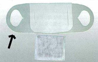 Dust-mask K filter mask only five pieces