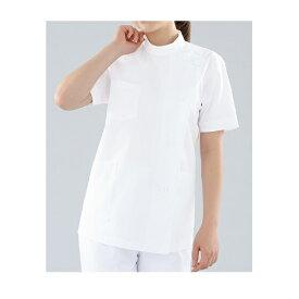 KAZEN レディス医務衣半袖 ホワイト 360-90