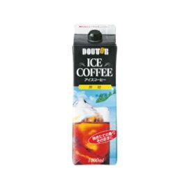 【送料無料】 まとめ買い4ケースセット ドトール アイスコーヒー 無糖 1L×1ケース(6本入) ドトールコーヒー