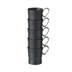 まとめ買い30個セット ☆カップホルダー 7〜9オンス用 ブラック 直径約58×高さ72mm 5個入×6パック ストリックスデザイン