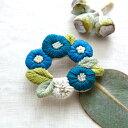 Piece(ピース)『K.omono(コモノ) fioret wreah brooch ブローチ』 blue(ブルー)
