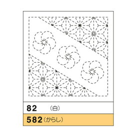 オリムパス『花ふきん 82(ねじり梅と麻の葉)』白 花ふきん布