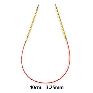 輪針 『addiレース輪針ゴールド 40cm 針サイズ3.25mm』 addi