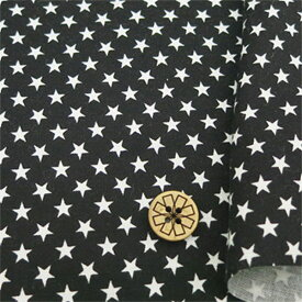 【数量5から】 生地 『シーチング 星柄(小) 88620-1-10 ブラック』
