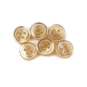 ボタン 『シャツボタン 四つ穴 10mm 6個入り 40番色 PVSO9001-40-10』