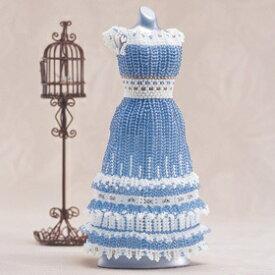 ビーズキット ホワイトフリルのティアードスカートドレス/2-102 [ビーズキット/ウエディング/小物/手作りキット]