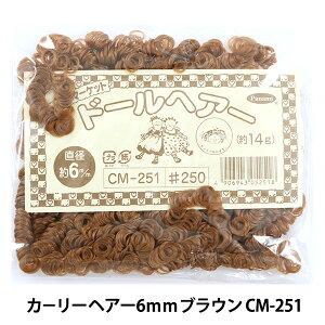 ドールチャーム素材 『カーリーヘア 6mmブラウン CM-251』 Panami パナミ タカギ繊維