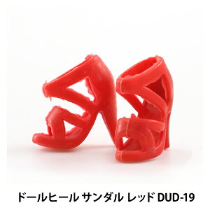 ドールチャーム素材 『ドールヒールサンダル レッド DUD-19』 KIYOHARA 清原