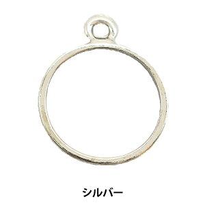 レジンパーツ 『レジン枠 ラウンド シルバー 1個入り No.102』