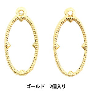 レジンパーツ 『レジン枠 オーバル ゴールド 2個入り No.122』
