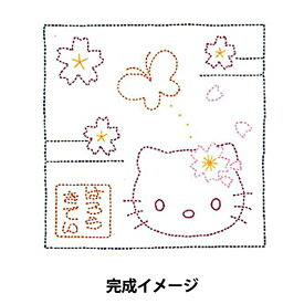 オリムパス 刺し子 花ふきん布パック ハローキティ 桜と蝶々/74