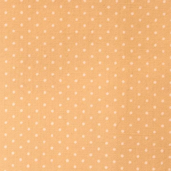 【数量5から】 生地 『水玉ブロードプリント極小(1-4)ベージュ地×白』