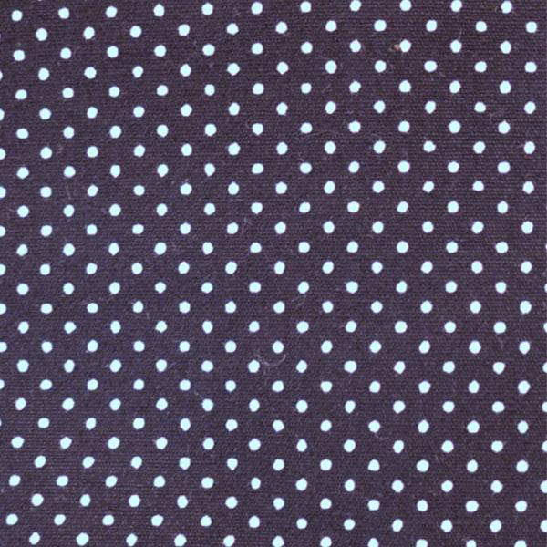 【数量5から】 生地 『水玉ブロードプリント極小(1-43)紺地×白』