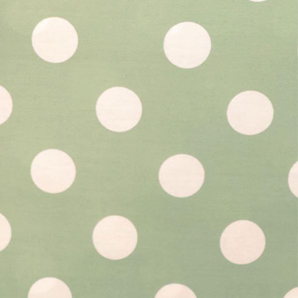 【数量5から】 生地 『水玉ブロードプリント大(3-5)緑地×白』