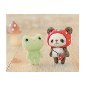 ◎Panda /H441-308[ felt wool] of the mascot kit strawberry hat of Hamanaka Yoko Oofuru hatched properly