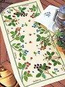 【刺繍スペシャル】★刺繍キット オリムパス テーブルセンター 1181/ベリー&ベリー [刺しゅうキット/ししゅう/クロスステッチ/]