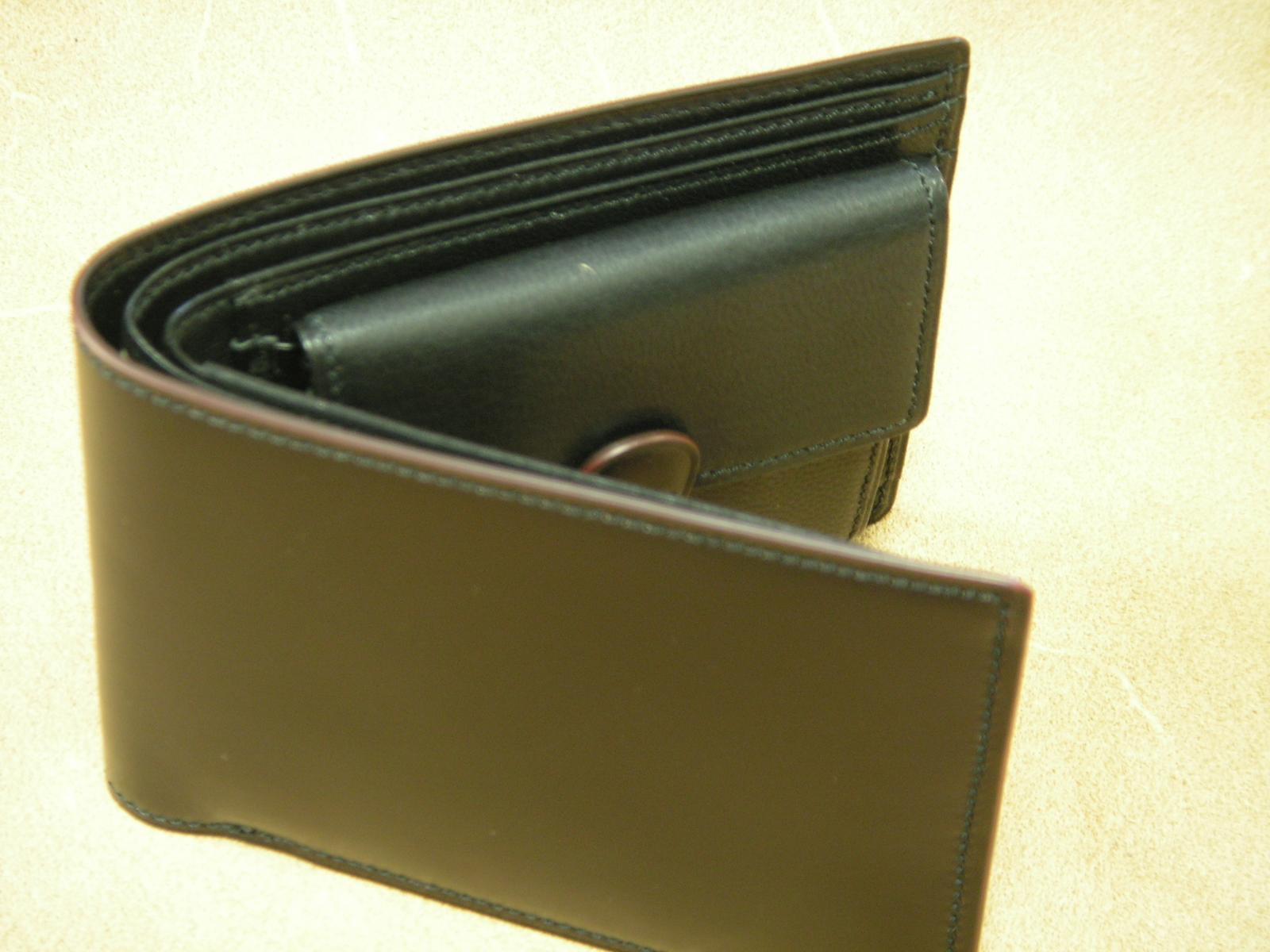 Vincis Gate天狗付二つ折れ財布(コ−ドバン:ブラック)