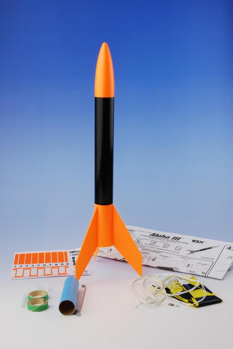 アルファIII モデルロケット組み立てキット