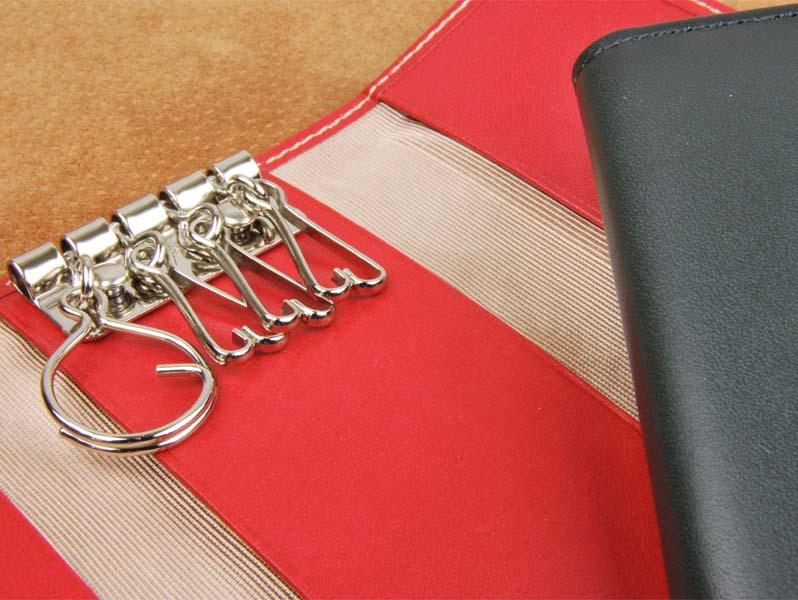 キーケース(角タイプ) 上質な 革 を使用したキーケース。プレゼントやギフトにも最適 【日本製】【送料無料・送料込】