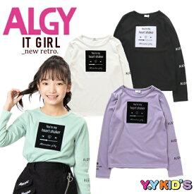【SALE セール】 ALGY アルジー 長袖 Tシャツ 2021 秋冬物 (XXS/XS/S/M) フロッキーロゴもちふわロンT メール便可