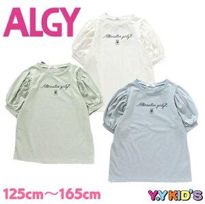 【SALE セール】 ALGY アルジー 半袖 Tシャツ 2021 夏物 (XXS/XS/S/M) ギンガムりぼんボリュームスリーブTシャツ メール便可