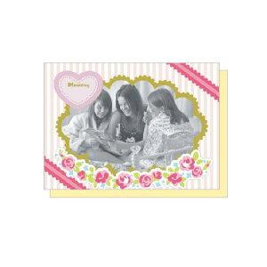 PHOTO FRAME CARD フラワーガーデン 大人 おしゃれ シンプル かわいい 結婚式 #素敵便 プレゼント ギフト 贈り物 アレンジ [M便 5/25]
