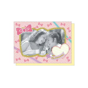 PHOTO FRAME CARD ガーリーリボン 大人 おしゃれ シンプル かわいい 結婚式 #素敵便 プレゼント ギフト 贈り物 アレンジ [M便 5/25]