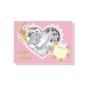 PHOTO FRAME CARD ハートウェディング プレゼント ギフト 贈り物 アレンジ [M便 5/25]
