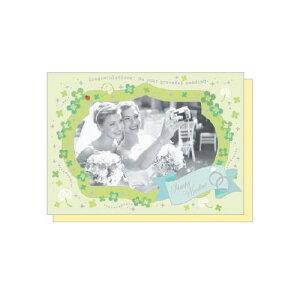 PHOTO FRAME CARD クローバーウェディング 大人 おしゃれ シンプル かわいい 結婚式 #素敵便 プレゼント ギフト 贈り物 アレンジ [M便 5/25]