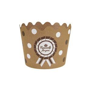 77-874 マフィンカップ ロゼット(BR) バレンタイン チョコ チョコレート 義理チョコ 大量 手作り キット お菓子 プレゼント ゼットアンドケイ