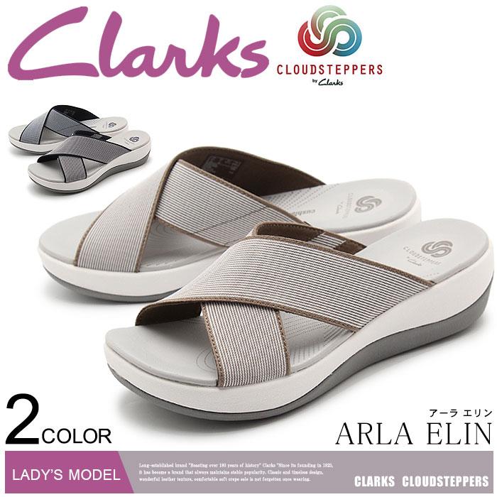 送料無料 クラークス クラウドステッパー CLARKS サンダル アーラ エリン 全2色(CLARKS 26125878 26124658 ARLA ELIN)レディース(女性用) ブランド くらーくす 靴[ワンバンド]