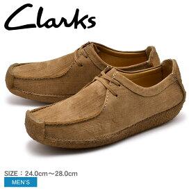CLARKS クラークス ナタリー カジュアルシューズ メンズ ブラウン NATALIE 26118584