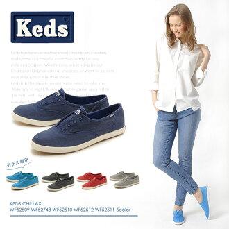 Keds KEDS suripponchirakkusu全5色(KEDS WF52509 WF52748 WF52510 WF52512 WF52511)女子的(女性用)女式無袖內衣開帆布休閒素色婦女