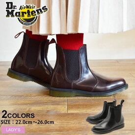 ドクターマーチン フローラ チェルシー ブーツ Dr.Martens サイドゴアブーツ レディース ブラック 黒 FLORA CHELSEA BOOT 14649001 靴 シューズ サイドゴア マーチン ブランド 天然皮革 革 本革 レザー