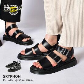 ドクターマーチン グリフォン Dr.Martens サンダル メンズ レディース ブラック 黒 ホワイト 白 GRYPHON SANDAL 15695001 16821100 レザー 本革 コンフォート 靴|sale|