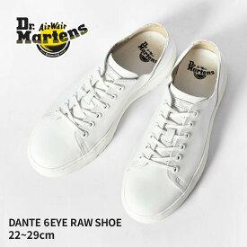 DR.MARTENS ドクターマーチン スニーカー ダンテ DANTE 6 ホール シューズ DANTE 6 EYE RAW SHOE 16736001 22127100 メンズ レディース ブラック ホワイト シューズ 革靴 マーチン ブランド 革 レザー