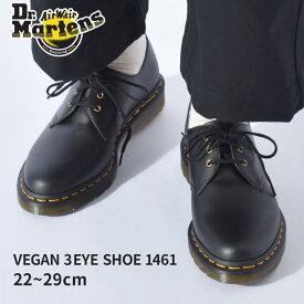 ドクターマーチン ビーガン 3ホール 1461 DR.MARTENS シューズ メンズ レディース ブラック 黒 VEGAN 3EYE BOOT 1461 14046001 靴 短靴 マーチン ブランド カジュアル シンプル フォーマル おしゃれ 外出 旅行 人気 定番