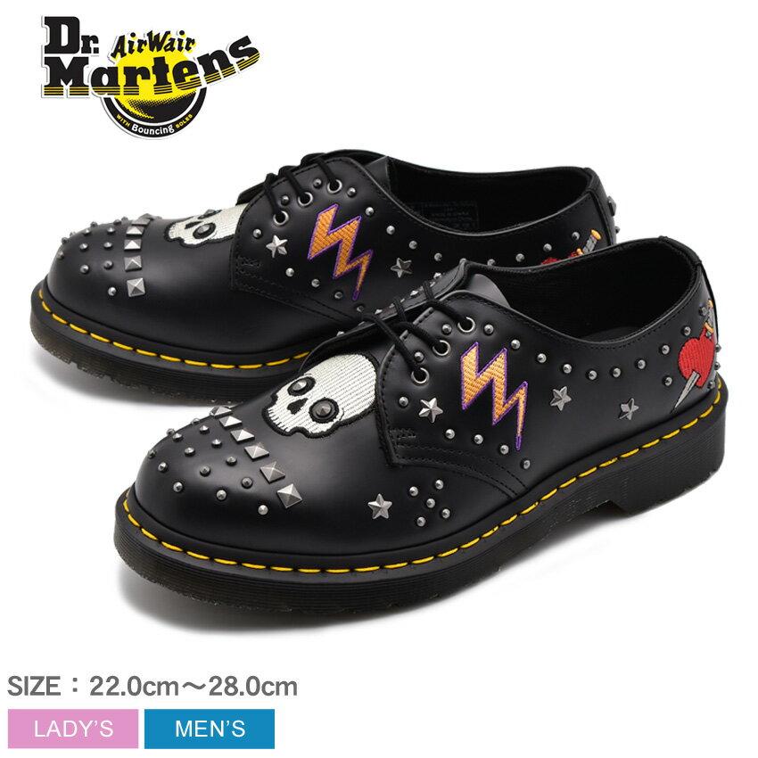 送料無料 DR.MARTENS ドクターマーチン メンズ レディース 1461 3ホール ギブソン ブラック ロカビリー ROCKABILLY 3EYE SHOE 24206001 革靴 レザー カジュアルシューズ