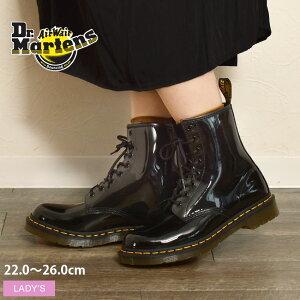 ドクターマーチン 1460 パテント 8ホール ブーツ DR.MARTENS 1460 PATENT 8EYE BOOT 11821011 レディース 靴 シューズ マーチン ブランド エナメル レースアップ おしゃれ 編み上げ 黒 ブラック 定番