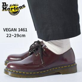 DR.MARTENS ドクターマーチン ドレスカジュアルシューズ ビーガン1461 VEGAN1461 14046601 メンズ レディース シューズ ドレスシューズ カジュアルシューズ マーチン ブランド カジュアル シンプル ユニセックス ワインレッド 靴 おしゃれ 人気 定番 赤