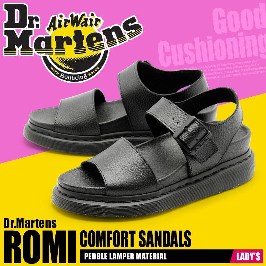 送料無料 ドクターマーチン Dr.Martens ロミ ストラップ サンダル ブラックDR.MARTENS ROMI STRAP SANDAL 22095001レザー 本革 コンフォート 靴レディース(女性用)