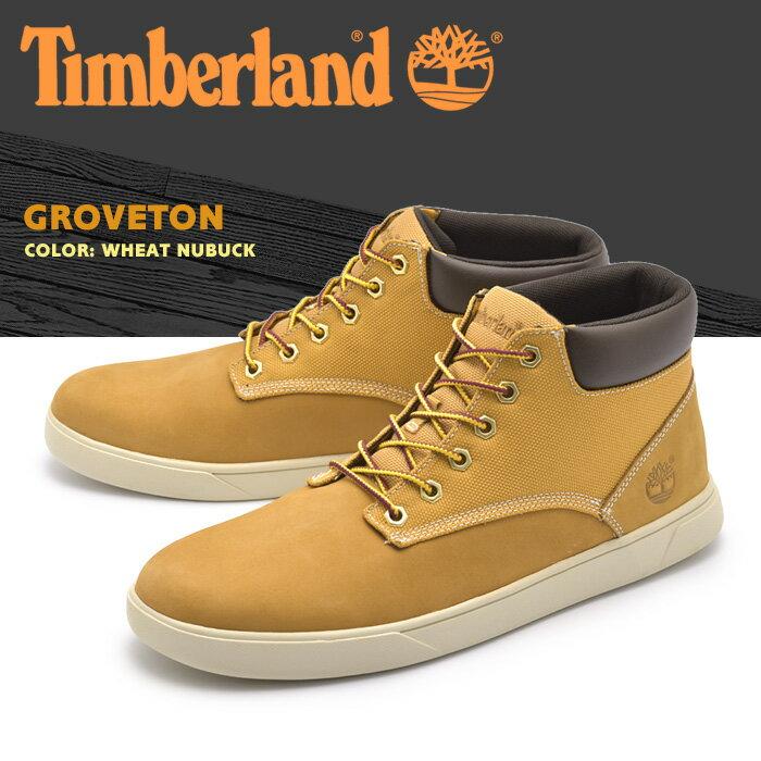 送料無料 ティンバーランド ブーツ (TIMBERLAND) チャッカブーツ グローブトン ウィートヌバック(9463B GROVETON)レザー 天然皮革 ショート イエローブーツ メンズ