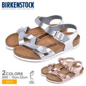 BIRKENSTOCK ビルケンシュトック サンダル 全2色リオ RIO [普通幅タイプ] シルバー 定番 靴1012519 1012517 キッズ&ジュニア(子供用)