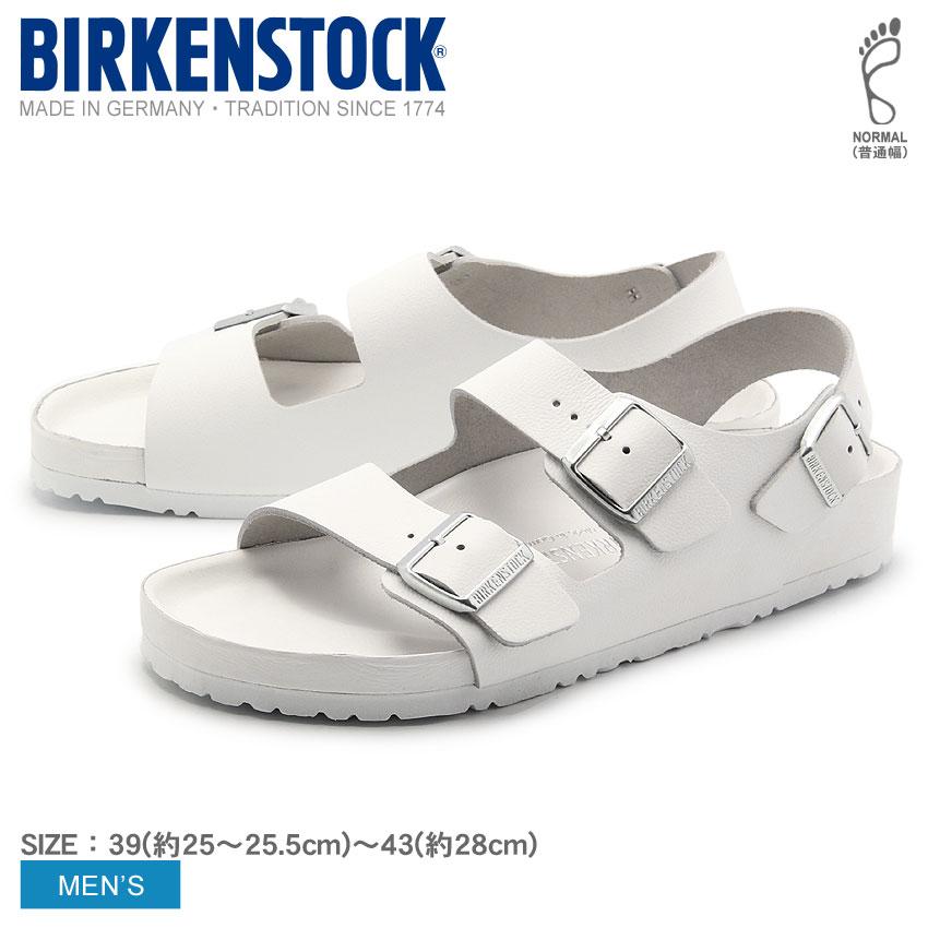 送料無料 BIRKENSTOCK ビルケンシュトック ミラノ [普通幅タイプ](MILANO 948201)メンズ(男性用)レザー コンフォート サンダル 靴 シューズ レギュラーフィット ビルケン 天然皮革 本革
