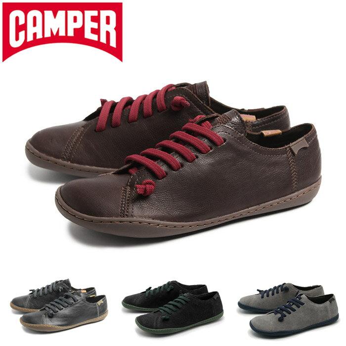 送料無料 カンペール(CAMPER) ペウ カミ 全4色(CAMPER 20848 020 017 071 072 PEU CAMI)レディース(女性用) 靴 シューズ カジュアル スニーカー 天然皮革 ローカット ダークブラウン ブラック