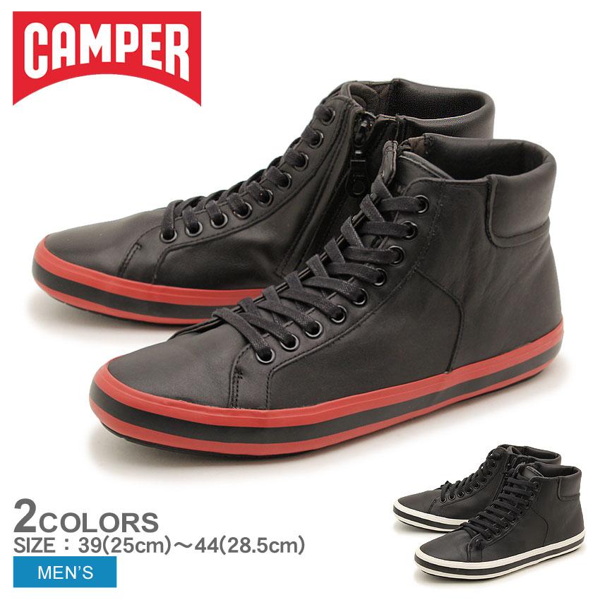 送料無料 カンペール(CAMPER) ポルトル 全2色(CAMPER 36654 005 019 PORTOL)メンズ(男性用) ハイカット スニーカー 靴 シューズ カジュアル 天然皮革 レザー ブラック