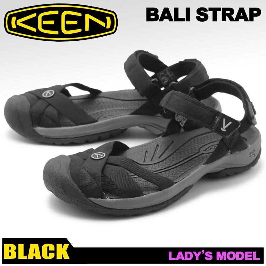 送料無料 KEEN サンダル レディース ブラック キーン バリ ストラップ BALI STRAP 1018783